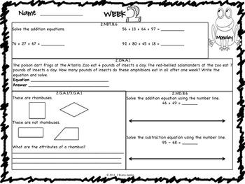 Math Morning Work 2nd Grade May Editable