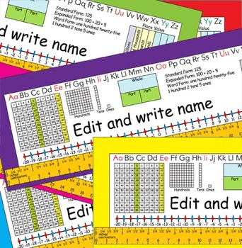 2nd Grade Common Core Desk Plates: Editable & 6 Colors