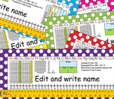 2nd Grade Common Core Desk Plates: Dots: Editable