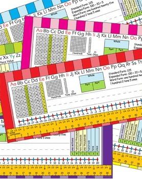 2nd Grade Common Core Desk Plates: Stripes