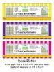 2nd Grade Common Core Desk Plates: Stripes: Editable