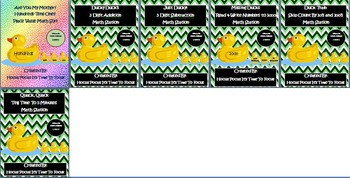 2nd Grade Common Core Duck Crazy Math Stations Bundle of Math Centers B2S