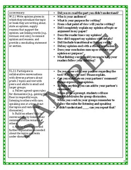2nd Grade Common Core ELA Assessment Questions and Tasks
