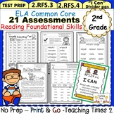 2nd Grade Common Core ELA Assessments- Reading Foundational Skills