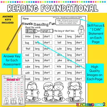 2nd Grade Common Core ELA Assessments- Reading Foundational Skills