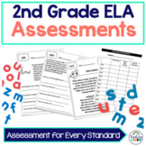 2nd Grade Common Core ELA Assessments {without standard posters}