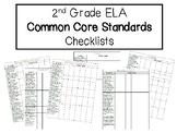 2nd Grade Common Core ELA Checklists