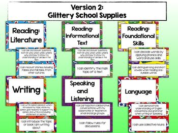 """2nd Grade Common Core ELA """"I CAN"""" Statements"""