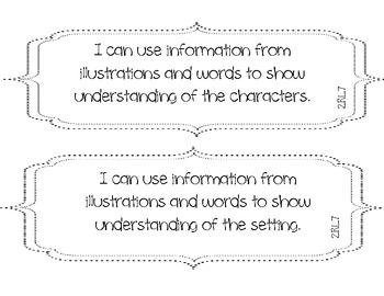 2nd Grade Common Core ELA I Can statements
