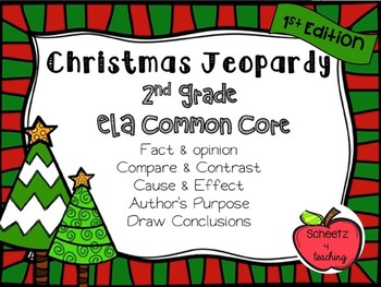 2nd grade ela jeopardy game holiday 1st edition - Christmas Jeopardy Game