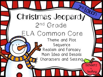 2nd Grade ELA Jeopardy Game - Holiday 2nd Edition