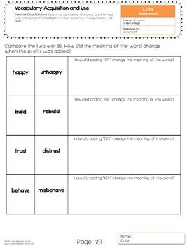 2nd Grade Common Core ELA Language Assessment