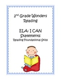 2nd Grade Common Core ELA Reading Foundational Skills I CA