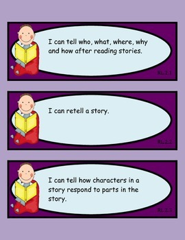 2nd Grade Common Core ELA: Reading Literature I CAN Statements