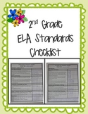 2nd Grade Common Core ELA Standards Checklist