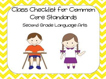 2nd Grade Common Core ELA Standards Checklist - Chevron