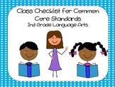 2nd Grade Common Core ELA Standards Checklist - Dots
