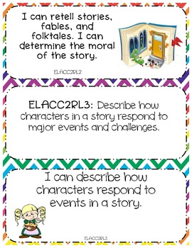 2nd Grade Common Core ELA: Teacher and I Can Statements