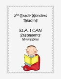 2nd Grade Common Core ELA Writing Skills I CAN Statements
