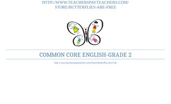 2nd Grade Common Core Standards (English) Classroom Chart