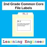2nd Grade File Labels, 2nd Grade Learning Targets, File Folder Labels