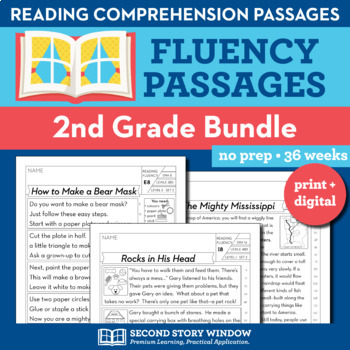 2nd Grade Fluency Homework Bundle