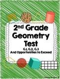 2nd Grade Common Core Geometry Test