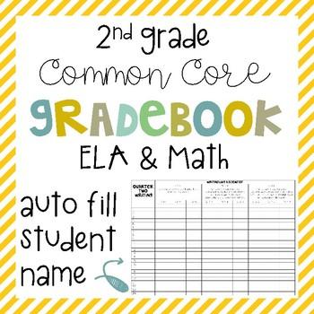 Common Core Gradebook - 2nd Grade