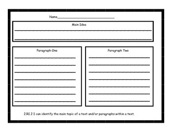 2nd Grade Common Core Graphic Organizers