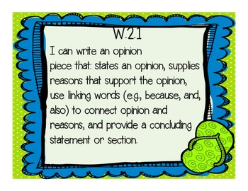 """2nd Grade Common Core """" I Can"""" Posters- Flip Flops and Dots Themed"""