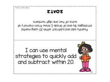"""2nd Grade Common Core """"I Can"""" Standards Posters {MATH ONLY}"""