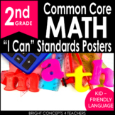 "2nd Grade Common Core ""I Can"" Standards Posters {MATH ONLY}"