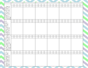 2nd Grade Common Core I Can Statements and Record Book (Light)