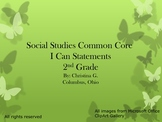 2nd Grade Common Core I Can Statements for Social Studies