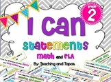 "2nd Grade Common Core ""I Can"" Statements in kid friendly language"