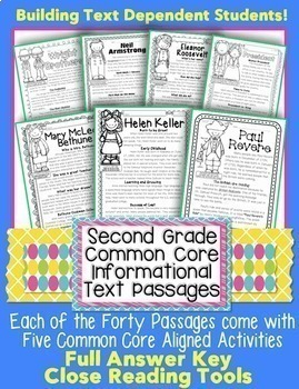 Close reading passages for second grade