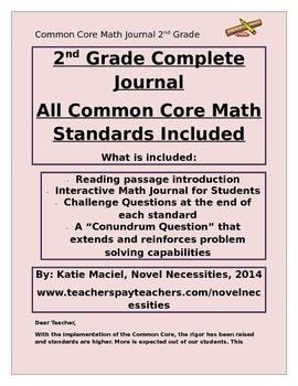 2nd Grade Common Core Interactive Math Journal-ALL STANDARDS