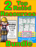 2nd Grade Common Core Interactive Notebook & 40 Passages w/ Activities BUNDLE