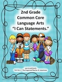 "2nd Grade Common Core Language Arts ""I Can Statements"""