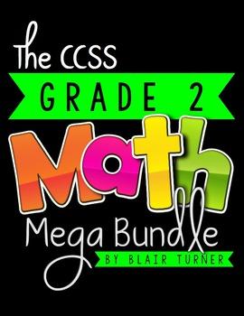 2nd Grade Common Core MATH MEGA BUNDLE {A Year's Worth of Math Materials}