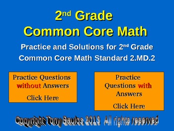 2nd Grade Common Core Math 2 MD.2 Measure and Estimate Lengths
