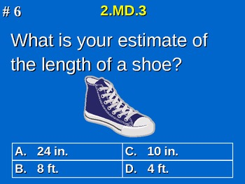 2nd Grade Common Core Math 2 MD.3 Estimate Lengths Using Units 2.MD.3