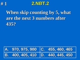 2nd Grade Common Core Math 2 NBT.2 Place Value, Skip Count by 5, 10, 100 2.NBT.2