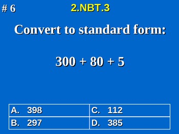 2nd Grade Common Core Math 2 NBT.3 Read And Write Numbers To 1000 2.NBT.3