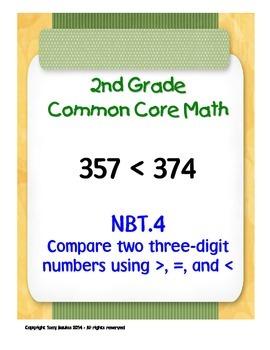 2nd Grade Common Core Math 2 NBT.4 Compare Two Three-Digit