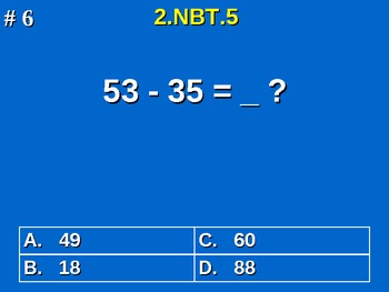 2nd Grade Common Core Math 2 NBT.5 Add & Subtract Within 100 2.NBT.5