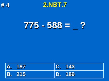 2nd Grade Common Core Math 2 NBT.7 Add And Subtract Within 1000 2.NBT.7