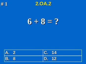 2nd Grade Common Core Math 2 OA.2 Fluently Add & Subtract Within 20 2.OA.2