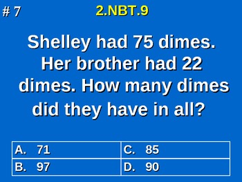 2nd Grade Common Core Math Addition & Subtraction Strategy Word Problems 2.NBT.9