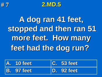 2nd Grade Common Core Math Addition Subtraction to Solve Word Problems 2.MD.5